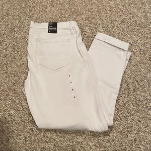 New York and Company White Ankle Leggings